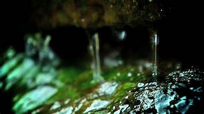 Water Nature Gifs Animated Giphy Cave Drops