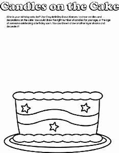 Birthday Cake Coloring Page Crayolacom