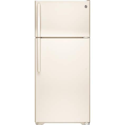 ge  cu ft top freezer refrigerator  bisque