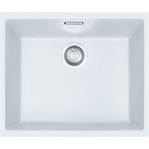 kitchen sinks franke franke sirius sid110 50 tectonite polar white kitchen sink 3012