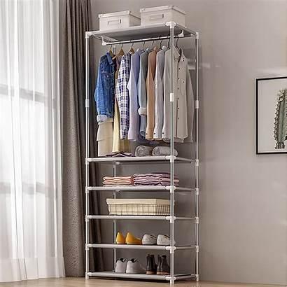 Rack Clothes Hanging Racks Coat Bedroom Shelf