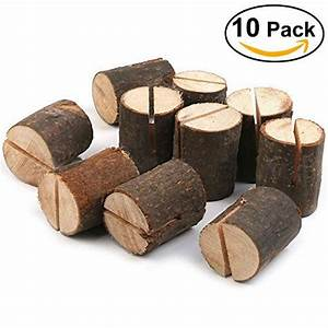 Haperlare 10pcs Wooden Table Number Holders Wooden Place ...