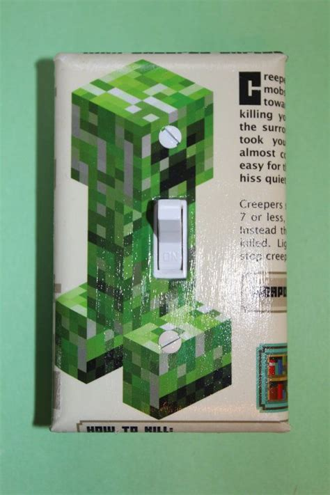 Minecraft Bedroom Light by Minecraft Light Switch Plate Cover Boys Room Home By