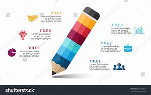 Vector Color Pencil Infographic Education Diagram Stock