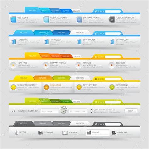 web design template elements  icons set navigation