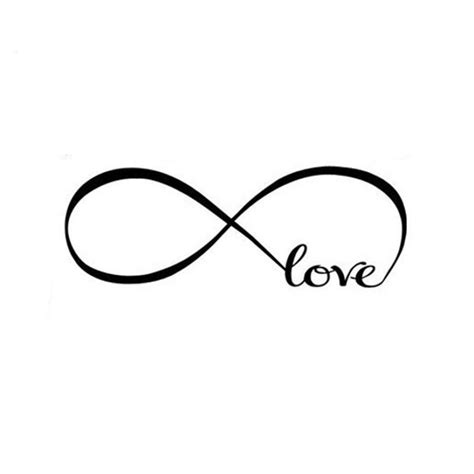infinity sign love infinity symbol vinyl wall decal virtual glam shop