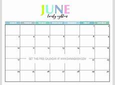 Free Printable 2018 Calendar Pretty and Colorful!