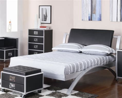 contemporary bedroom dressers black metal bedroom furniture amepac furniture 11200