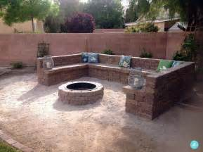 Stone Garden Seats And Benches by Cool Diy Outdoor Fire Pits And Bowls Home Decorating Ideas