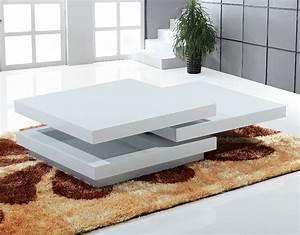 Table Basse Blanche Design : table basse design bella ~ Preciouscoupons.com Idées de Décoration
