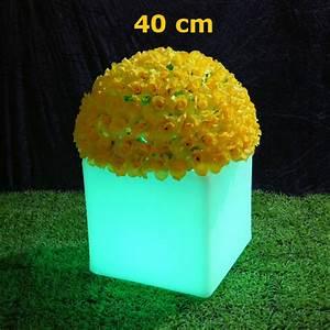 Pot Fleur Lumineux : pot de fleurs lumineux 40 x 40 cm sur grossiste chinois import ~ Nature-et-papiers.com Idées de Décoration