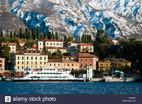 Winter View Of Lake Como Stock Photos And Winter View Of