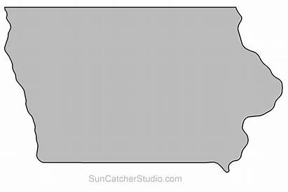 Iowa State Clipart Outline Map Scroll Saw