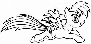 Kid Coloring Pages My Little Pony Rainbow Dash - Coloring Home