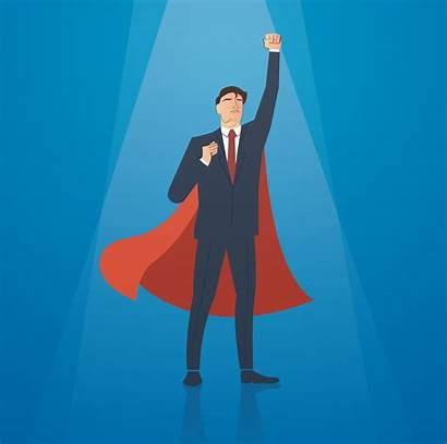 Cape Businessman Successful Vector Clipart Vectors Superhero
