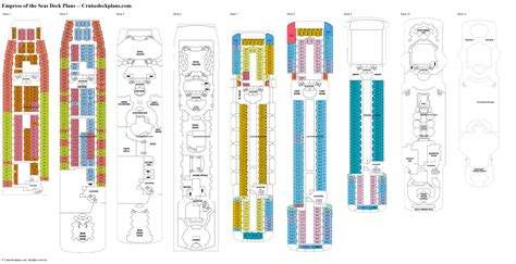 deck plan 4 empress of the seas deck plans diagrams pictures