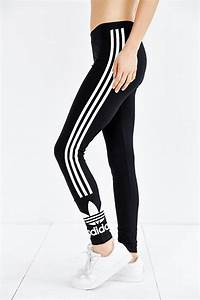 Lyst - Adidas Originals 3 Stripe Legging in Black