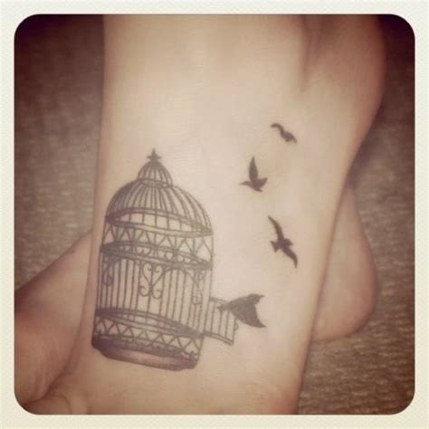 Birds Flying Out Of A Birdcage  Tattoos Pinterest