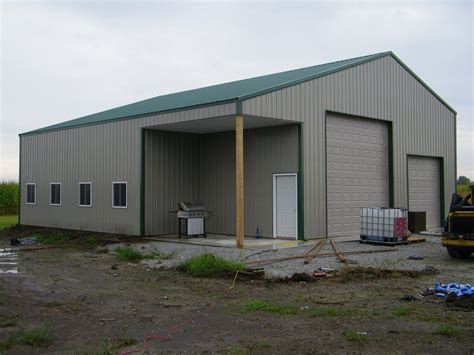 40x60 Metal Building With Living Quarters