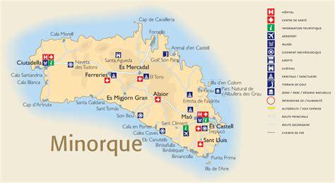Ile De Tourisme Carte by Info Minorque Tourisme