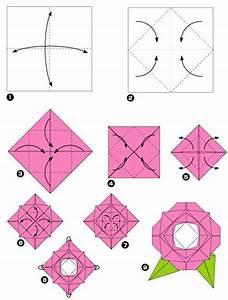 Comment Faire Une Rose En Papier Facilement : un origami facile fleur offrir ou pour vous amuser ~ Nature-et-papiers.com Idées de Décoration