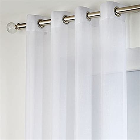 eyelet voile curtain drop inch sheer 229cm curtains voiles