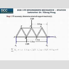 Statics Lecture 24 Simple Truss Analysis  Method Of Sections Youtube