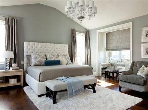 elegant bedroom grey white   splash  blue