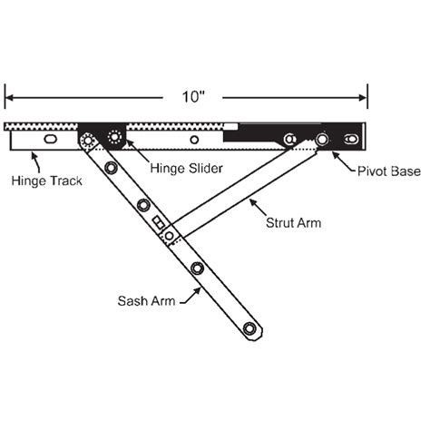 roto  casement hinge arm