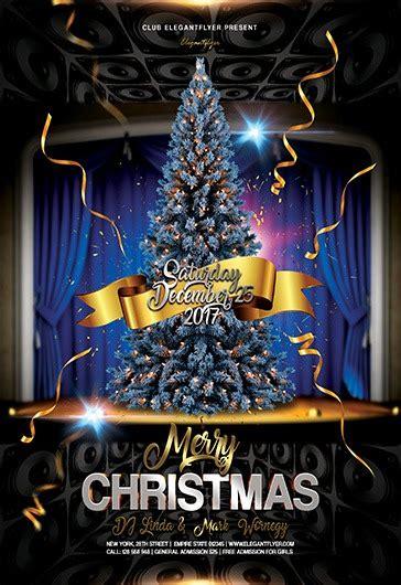 merry christmas  flyer psd template  elegantflyer