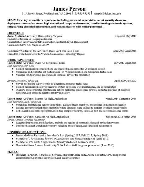 Veteran Resume Examples Best Resume Ideas