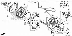 Honda Atv 2014 Oem Parts Diagram For Rear Brake    Panel