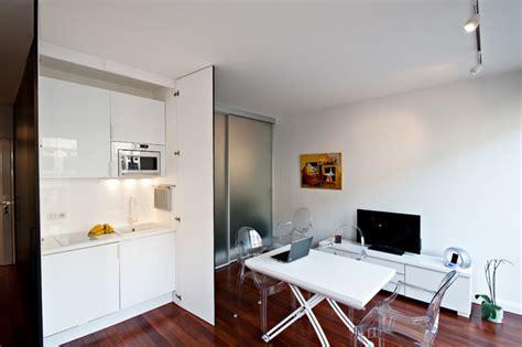cache cuisine coin cuisine caché dans un studio contemporary kitchen