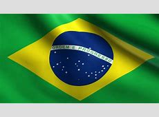 Brazilian Flag Waving In A Wind seamless Loopable High