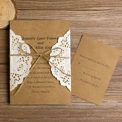lace wedding invitations vintage rustic lace pocket wedding invitations ewls002 as low as 1 79