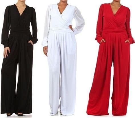 s dress jumpsuits plus 39 s solid wide leg dress jumpsuit pant suit mesh