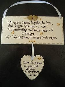 personalised wooden 1st first wedding anniversary gift With 1st wedding anniversary gift