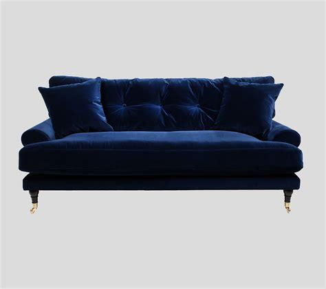 Velvet Sofa by Blue Velvet Sofa In Two Three Seat Sofas Att