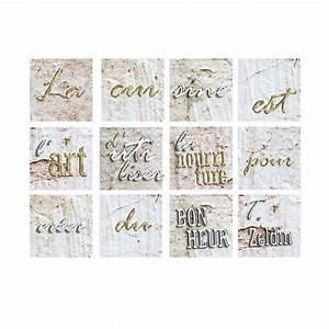 Stickers Carreaux Cuisine : stickers carr de carrelage originaux pour cuisine et citation sur l 39 art ~ Preciouscoupons.com Idées de Décoration
