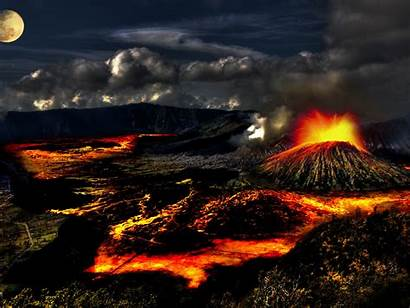 Crater Volcanic Lava Volcano Wallpapers13