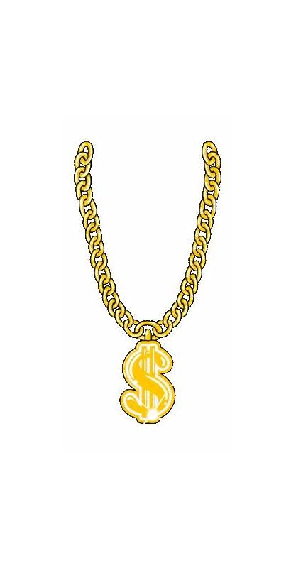 Rich Chain Necklace Animated Bling Money Transparent
