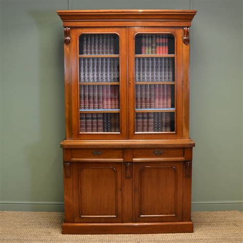 Antique Cupboard by Mellow Mahogany Antique Glazed Bookcase