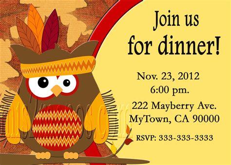 thanksgiving dinner invitation templates