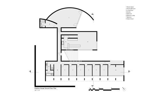 Koshino House Ground Floor Plan. Tadao Ando