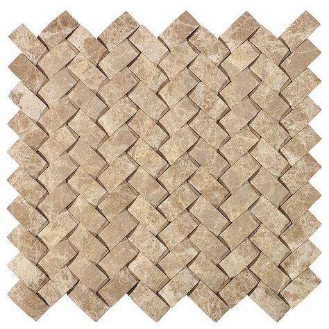 American Olean Mosaic Tile by Shop American Olean Delfino Emperador Basketweave