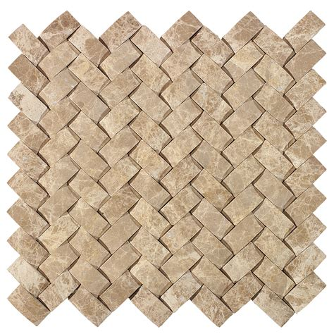 basketweave tile shop american olean delfino stone emperador basketweave mosaic marble wall tile common 12 in x