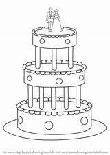 Cake Draw Step Drawing Cakes Drawingtutorials101 Tutorial Previous sketch template