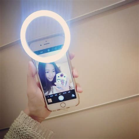 iphone light ca portable selfie flash led phone ring light for