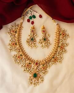 antique guttapusalu necklace earrings south india jewels