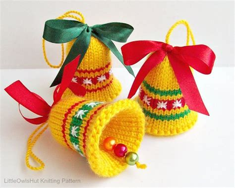 088 knitting pattern bells decor new year christmas